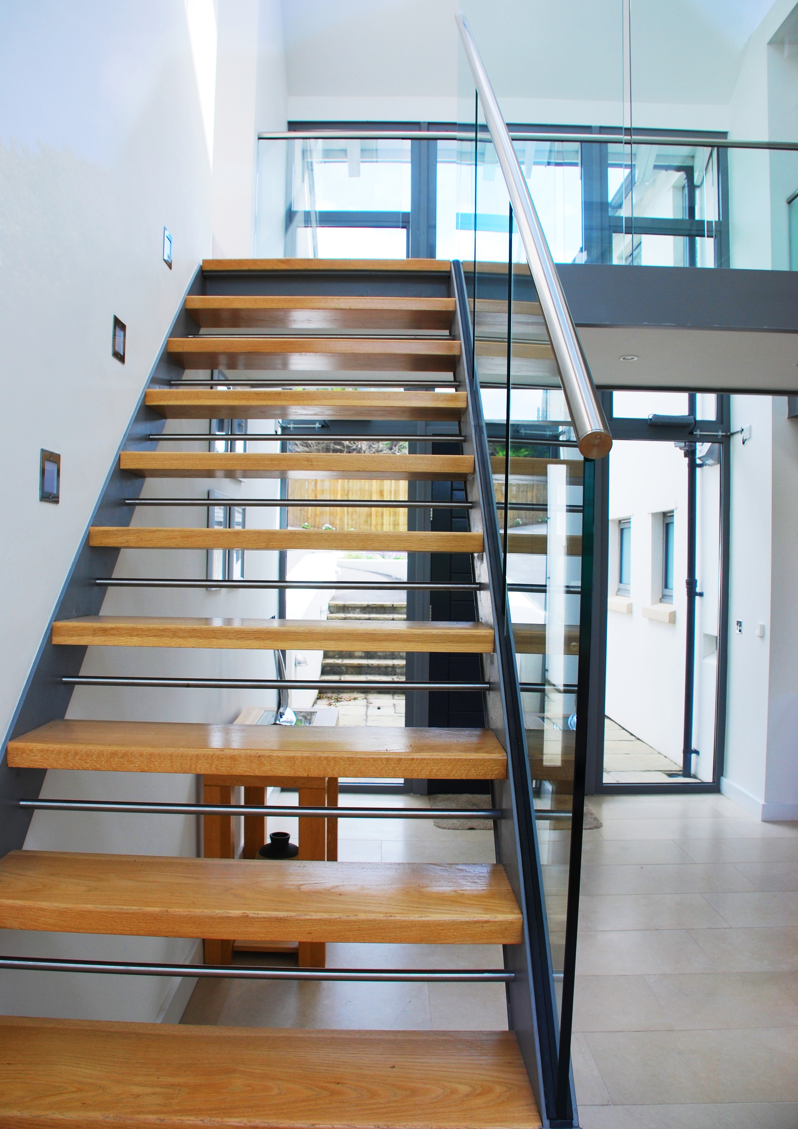 Kiln Reach staircase after the extensions and alterations