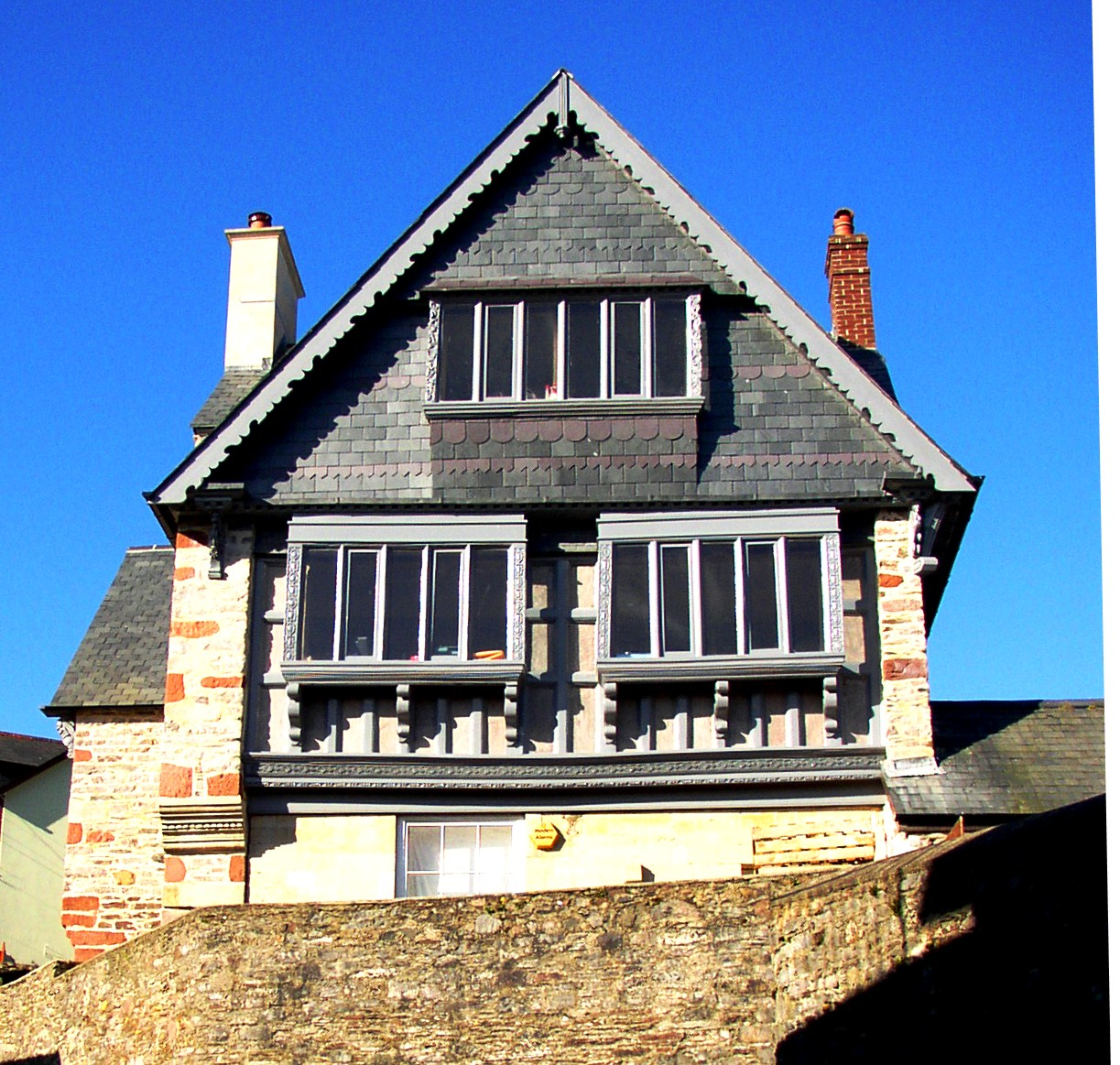 Newcomen Cottage - The outside of the total restoration of magnificent listed building in the centre of Dartmouth