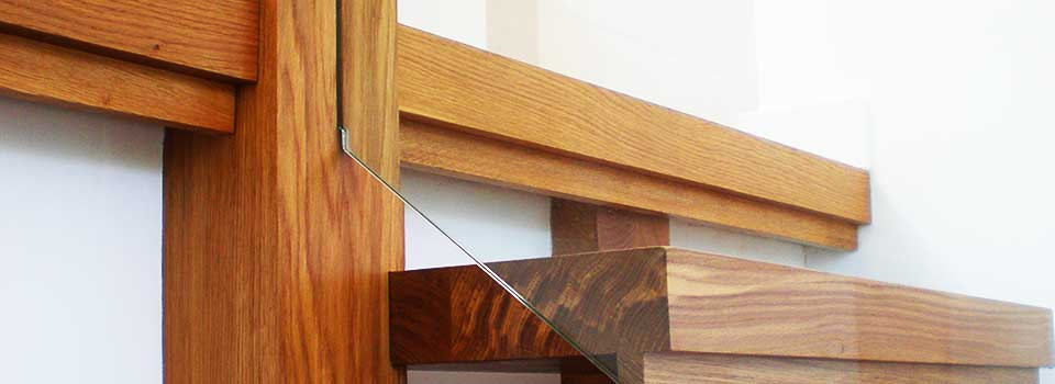 Attention to detail interior stairs designed by EJW Architects in Totnes