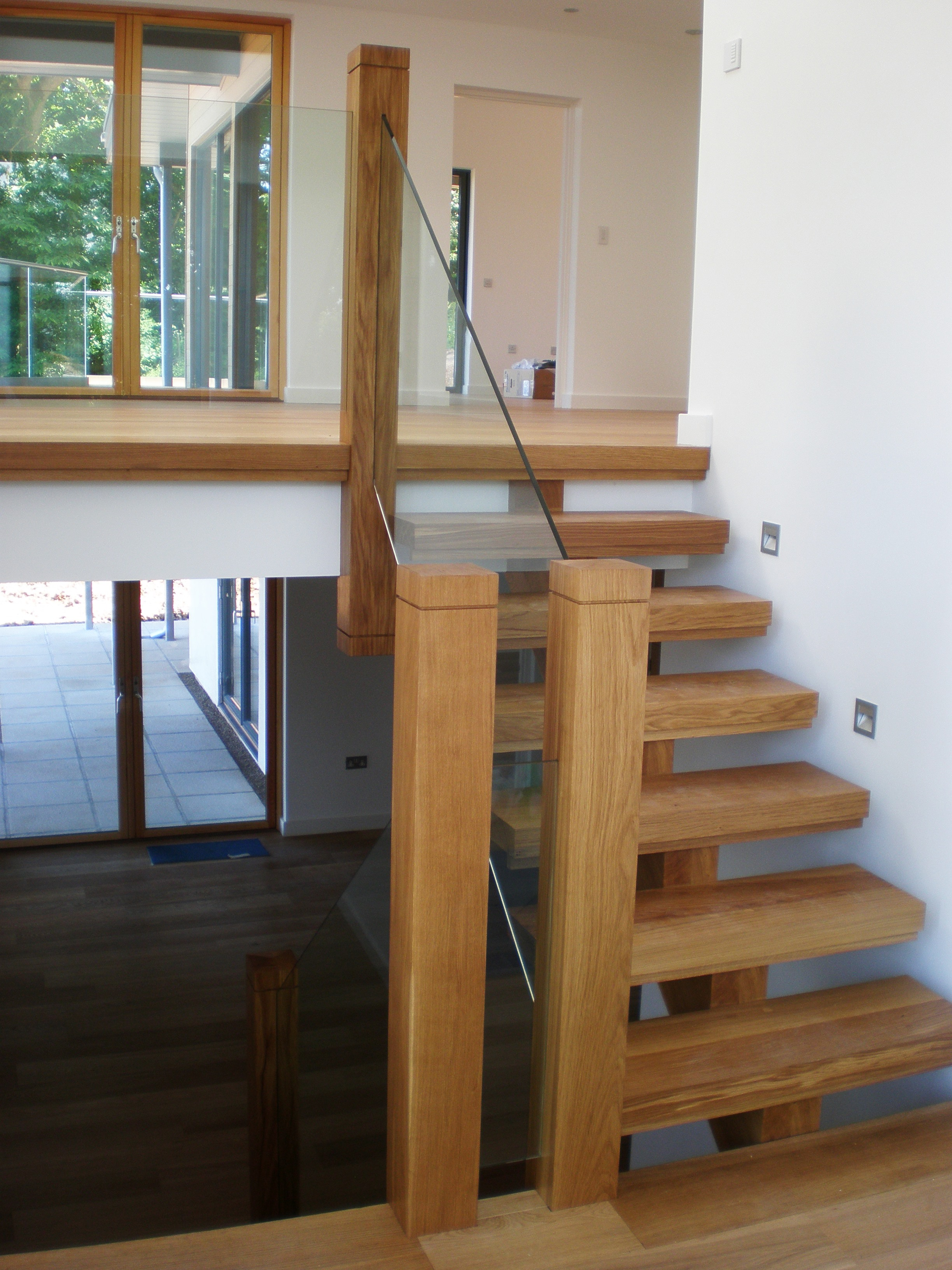 Interior design features included the staircase