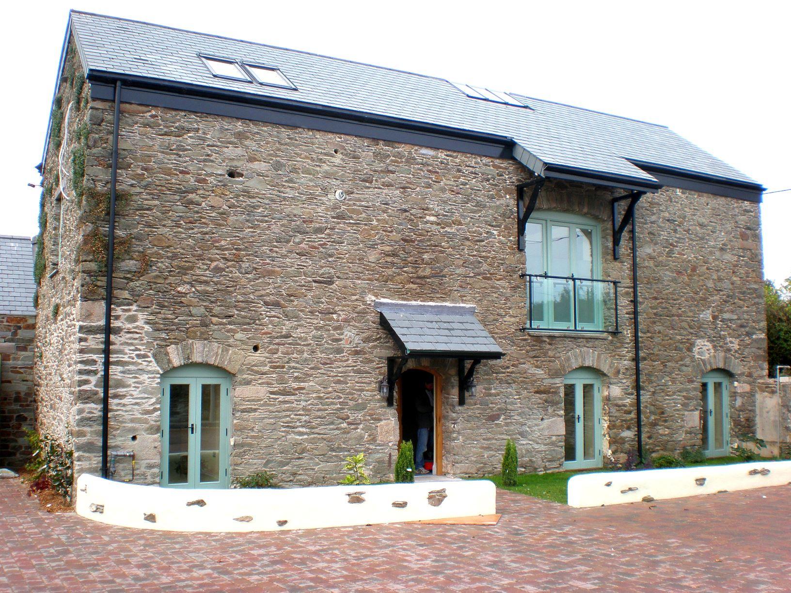 Barn Conversion Front elevation of refurbished barn