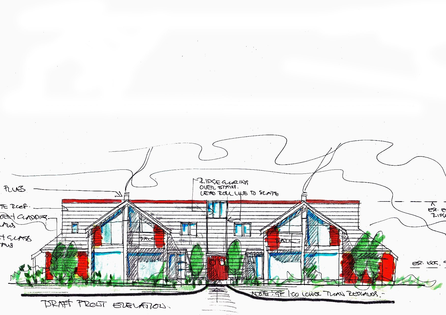 Design concept for Bigbury Housing