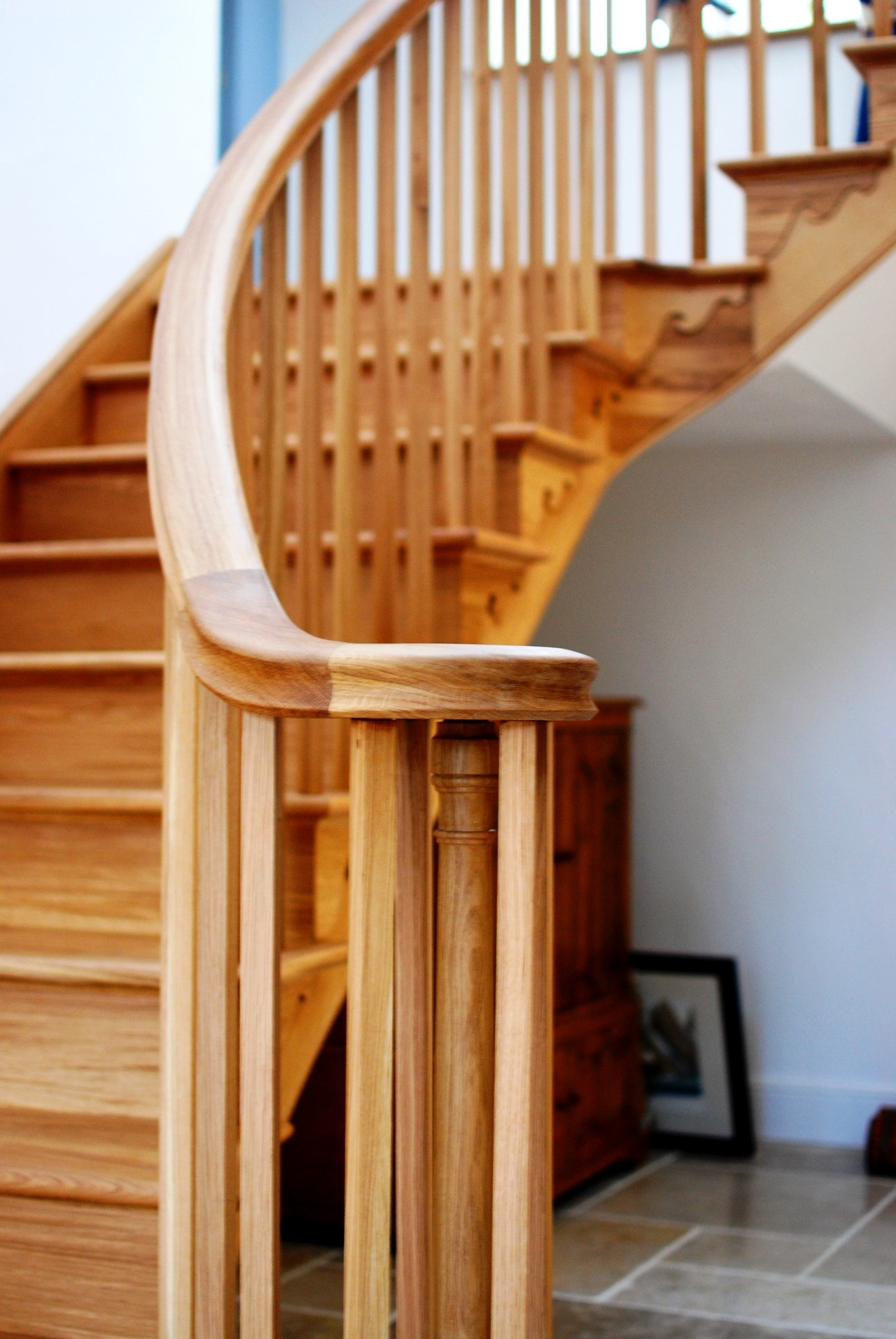 Oak staircase detail