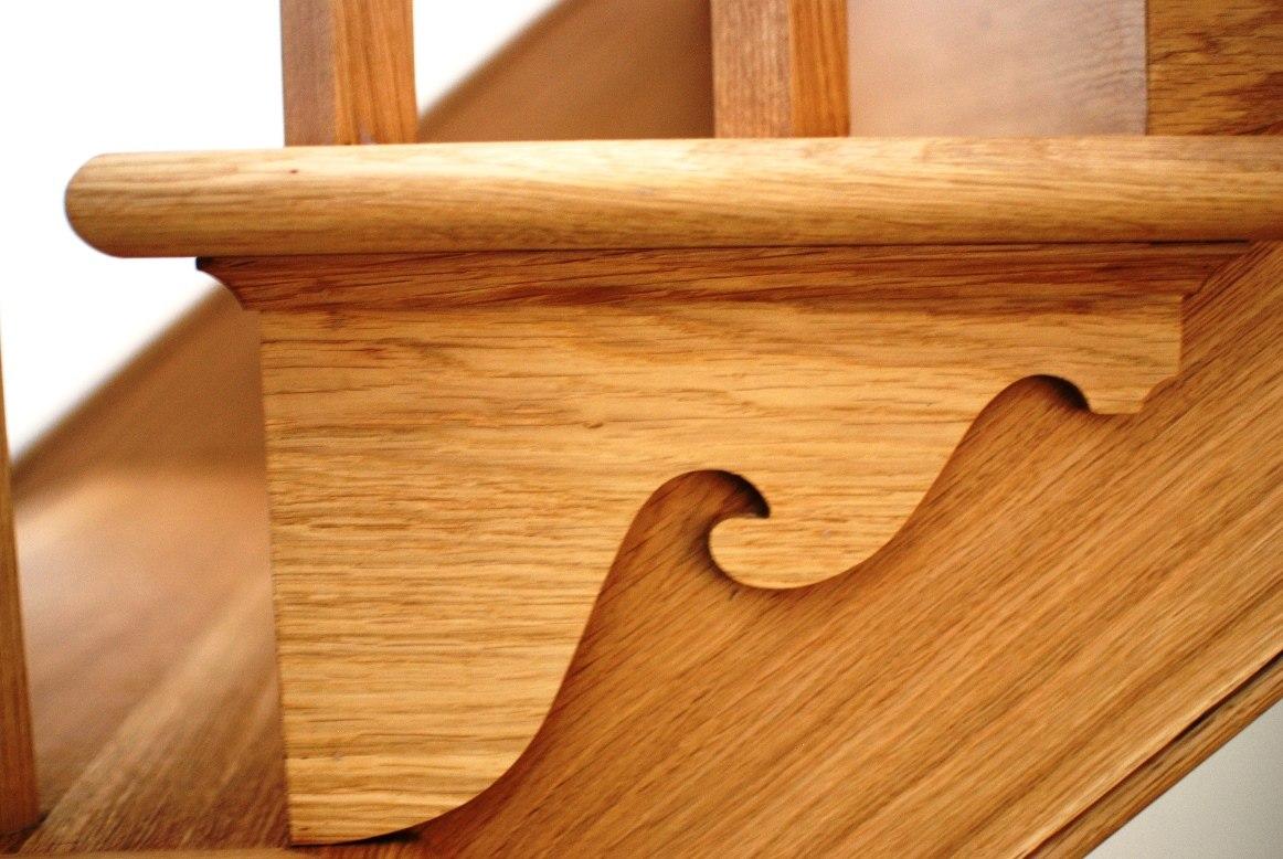 Refurbished farm house oak tread detail