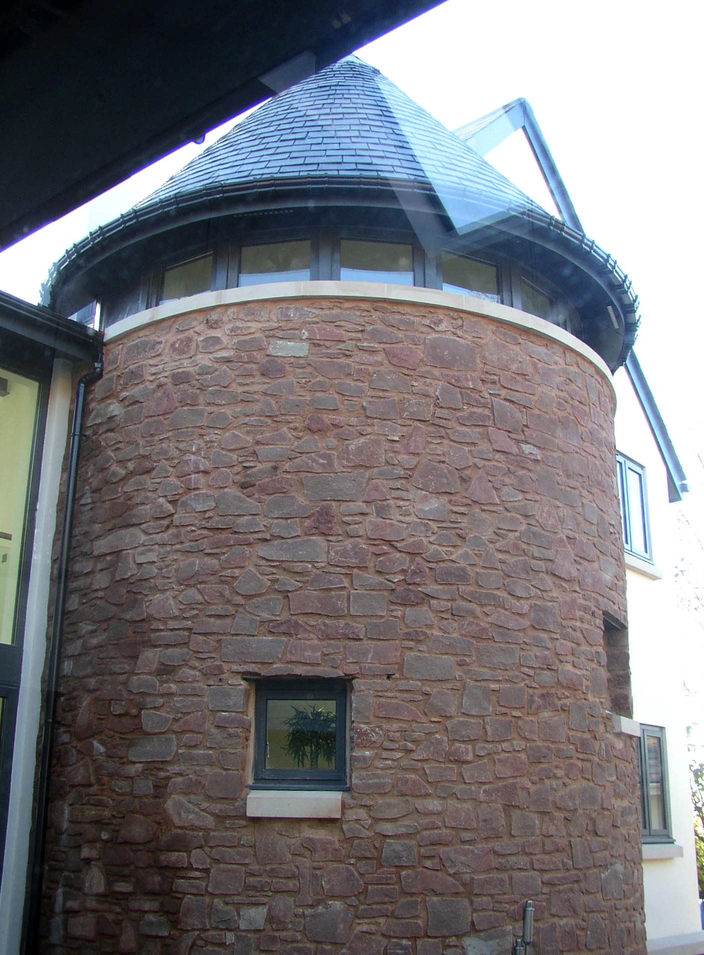 Stone staircase tower