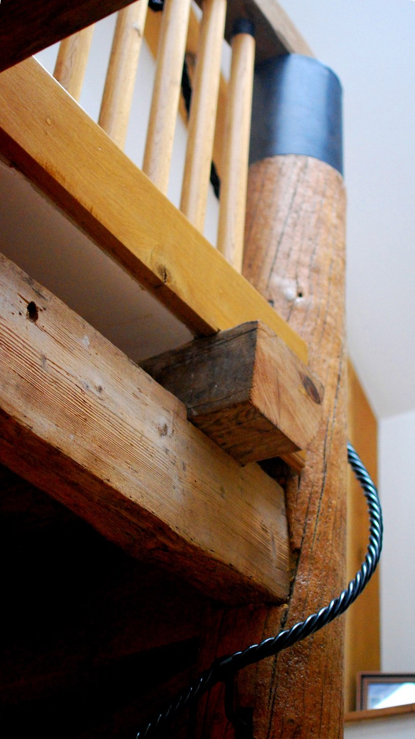Timber staircase detail with reclaimed timber