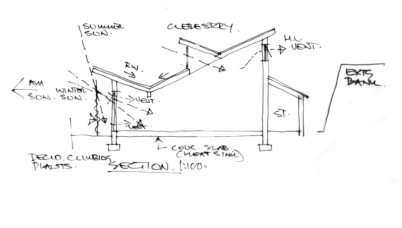Hand Drawn Building Sketch