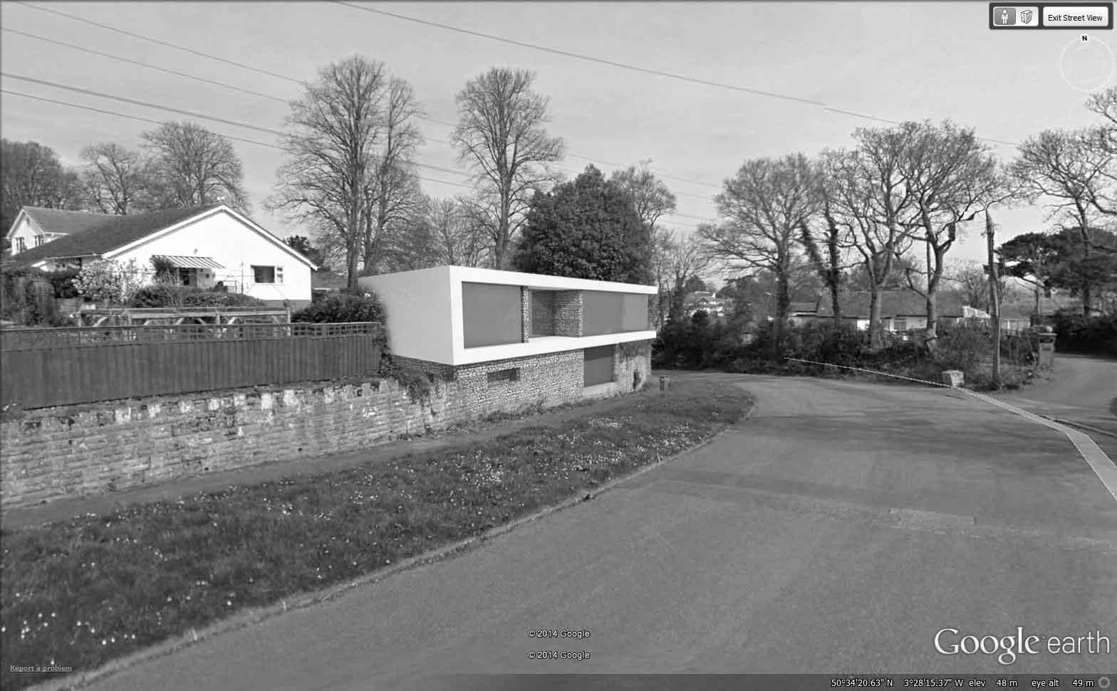 Proposed new dwelling design in Dawlish