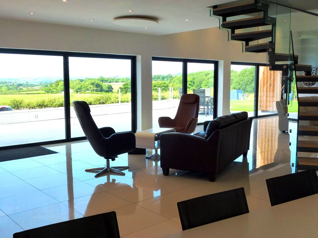The view from inside the property showing the absorbing views beyond
